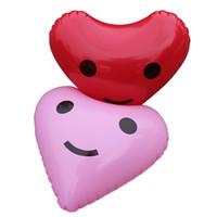 folha de balão de valentim venda por atacado-Balões De Alumínio Para O Dia Dos Namorados Presente Amor Coração Forma Foil Balões Decorações Da Festa de Aniversário Praia Foto Adereços Venda Quente 3 8xr X