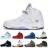 Wholesale ducks china online - 5 s Wings International Flight Mens Basketball Shoes Oregon Ducks Low China Silver White SUP men sports sneakers designer trainers