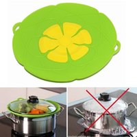 Wholesale Silicone Accessories For Kitchen - Silicone lid Spill Stopper Cover For Pot Pan Kitchen Accessories Cooking Tools Flower Cookware Kitchen Gadgets c360