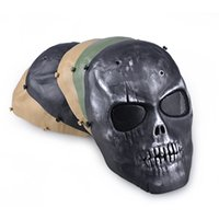 Wholesale war game paintball for sale - Group buy Outdooors CS Protection Mask Full Face Guard War Game Airsoft Paintball Skull Masque halloween Full Face Black Mask