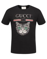 New 2018 Hip Hop gg t-shirt da uomo Estate manica corta in cotone Marca TOPS camicia uomo Moda Black Cat tee Mens Designer Fitness t-shirt