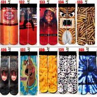 fedex socken großhandel-Neue 500design 3d socken große kinder frauen männer hip hop Lustige 3d socke baumwolle skateboard gedruckt socke fedex / dhl versand