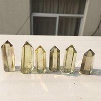 cristais de cura gratuitos venda por atacado-Venda imperdível! Natural Citrino Cristal De Quartzo Wand Point Reiki Cura pedras Naturais e minerais como presente Frete grátis