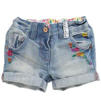 Wholesale Short Jeans For Kids - Jeans shorts for Kids summer beach shorts mini bottom clothes for girl pants cotton fabric Made In China wholesale green shorts