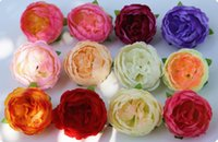Wholesale orange small decoration - 10Cm Artificial Silk Flowers Head Camellia Heads Small Real Touch Tea Rose Diy Decoration For Wedding Bouquet Hat Corsage GA260