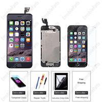 iphone 5s ekran ön kamera toptan satış-Premium iphone 5 5 s 6 6 artı 6 s lcd ekran değiştirme kulak hoparlör ile dokunmatik ekran digitizer meclisi, ön kamera, sensör