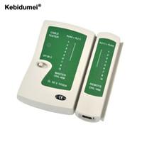 Wholesale Telephone Cable Tracker - kebidumei RJ45 RJ11Cat5 Cat6 LAN Cable Tester Handheld Network Cable Tester Wire Telephone Line Detector Tracker Tool kit
