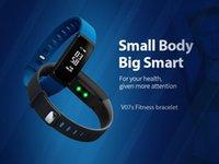 Wholesale Oxygen Blue - V07 Bluetooth Smart Wristbands Blood Pressure Heart Rate Monitor Fitness Tracker Smartband Waterproof IP67 Smart Bracelet VS TW64