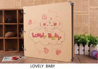 Wholesale Handmade Paper Photo Albums - 16 Inch Baby Album New Craft Paper Creative Commemorative Handmade DIY Art Crafts Gifts Loose-leaf Pasted Photo Album