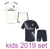 Wholesale Baby Boys Shorts - New Camisetas de Futbol kids Cristiano Ronaldo Jerseys realmadrid home white 2019 Real Madrid 18 19 baby boys football jerseys kits 2018 19