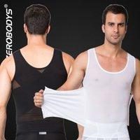 veste de forme masculine achat en gros de-Puissant Hommes Body Shaper Haut Powernet Gilet M L XL Noir Blanc Corps Ceintures Hommes Taille Cincher Forme Porter