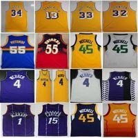 Wholesale 13 basketball jersey - men's 55 Mutombo 32 Johnson 1 McGrady 45 Donovan Mitchell jerseys 4 Webber 33 Abdul Jabbar 13 Chamberlain Basketball Jerseys