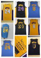 Wholesale mens sport polo - Throwback 24 Kobe Bryant Men's Basketball Jerseys Fashion Player version Mens polo shirt Blue Men Sport Jersey