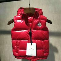 gilets à capuche vente achat en gros de-Hot vente marque M enfants hiver Body Warmer gilet à capuche UK gilets populaires veste Warm Down anorak gilet parka veste taille 2T-10T