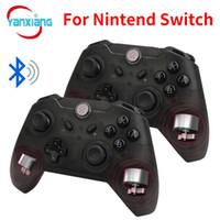 joystick do controlador sem fio venda por atacado-10 pcs Controlador de Jogo Sem Fio Bluetooth Gamepad Joypad LEDs Telescópica Controle Remoto Joystick para Nintendo Interruptor Console PC YX-switch01