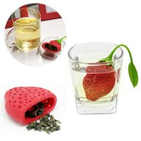 Wholesale Fruit Spices - Lovely Fruit Strawberry Shape Silicone Tea Strainer Herbal Spices Leaf Tea Infuser For Loosing Leaf Tea In Teapot