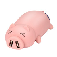 Wholesale iphone design power bank for sale - Adorable Piggy Design Portable Dual USB Port Power Bank mAh For Iphone