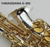 YANAGISAWA A-992 Eb Tune Alto Saxophone Silver Plated Body And Gold Plated Key Exquisite Hand Carved Professional Music Instruments Sax
