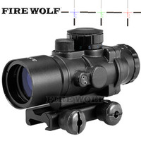 Wholesale laser fiber resale online - Hunting Riflescope Tactical X30 RGB laser sight dot red Tri Illuminated Combo Compact Scope Fiber Optics Green Sight