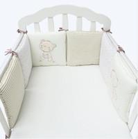 ingrosso letti per bambini-Vendita calda 6 Pz / lotto Baby Bed Paraurti nella culla Culla Paraurti Culla Lettino Protezione Paraurti Neonati Toddler Bedding Set