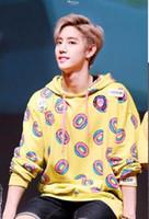 ingrosso hoodie kpop exo-Nuovo KPOP GOT7 Just Right Mark Jumper con cappuccio BTS Donut EXO Maglione unisex Sehun