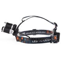 ingrosso lampade ricaricabili luminose-Torcia a LED 6000 Lumen torcia, Torce ricaricabili 18650 faro Impermeabile Hard Hat Light, Luci a testa luminosa, Camping