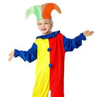 Wholesale clothing fancy online - Kids Clothing Baby Clothes Baby Boy Clothes Boys Clothes New Harlequin Costume Kids Clown Halloween Fancy Dresses Cosplay Set MMA628