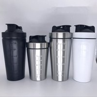 Wholesale Eco Twist - 25oz solid color Stainless Steel Protein Shaker Water Bottle Sport Bottle Twist and Lock Blender Mixer Bottle