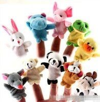 Wholesale cotton baby toys - In Stock Unisex Toy Finger Puppets Finger Animals Toys Cute Cartoon Children's Toy Stuffed Animals Toys BabY