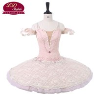 ingrosso abiti di giacca di balletto-Le donne Pink Professional Stage Ballet Tutu Costumi Adult Classical Ballet Dance Apperal Bambini Balletto Gonna Kids Dress