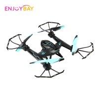 dronlar w kameralar toptan satış-Enjoybay Uzaktan Kumanda Helikopter 4 Eksen Hover Uçak Quadcopter w / WiFi Kamera RC Drone 2.4G Denetleyici Başsız Modu Drone