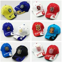Wholesale fan tables - 2018 World Cup Soccer Caps Snapback Brazil Brasil Argentina Portugal England Spain France Germany Football Hats Designer National Team Fans