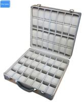 алюминиевый чемодан для багажа оптовых- Aluminum Watch&Jewelry Suitcase Storage with Handle for 56pcs Watches Organizer Case Dispaly, Watch Travel Box Luggage