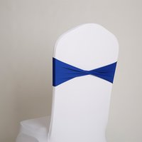 faja de la silla del spandex del banquete al por mayor-Venta caliente spandex fajas de lycra faja para cubierta de la silla spandex bandas pajarita para la decoración de la boda banquete diseño SN1368
