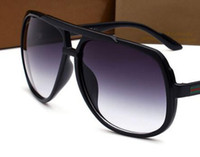 Wholesale 2018 fashion men designer sunglasses square plate metal combination frame top quality anti UV400 lens with box