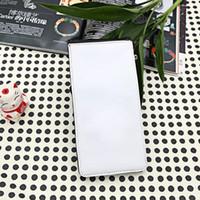 siyah kart boşlukları toptan satış-Sublime termal transfer baskı için boş cüzdan kart sahipleri erkekler için uzun siyah çanta