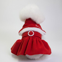 Wholesale day dresses suits resale online - 1 Christmas dog costume transformed dress santa suit classic Size Euramerican pet dog warm clothes dog apparel decoration