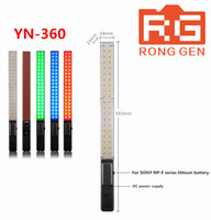 Wholesale photo colorful lights resale online - YN360 Handheld LED Video Light k k RGB Colorful CM Ice Stick Professional Photo LED light yn wand