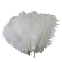 12-zoll-straußenfeder federn großhandel-Bunte 12-14 Zoll (30-35 cm) weiße Straußenfederfedern für festliche Dekoration Z134D des Hochzeitsmittelstück-Hochzeitsfestereignisdekors