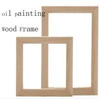 pintura al óleo naturaleza lienzo al por mayor-Marco de madera para la pintura al óleo de la naturaleza naturaleza madera DIY marco personalizado cuadro de gran tamaño interior sin la pintura40x50 cm