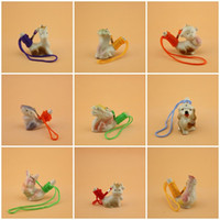 Wholesale water bird whistle - Chinese Zodiac Whistles Children Toy Ceramics Water Bird Whistle With Rope Home Decoration Many Styles 1 25mca C