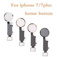 oem elma düğmesi toptan satış-Ev Düğmesi Için iPhone 7 7G 7 P 7 + 7 Artı Yeni OEM Ev Menü Düğmesi Flex Kablo + Anahtar Cap Meclisi Parçaları