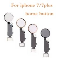 Wholesale oem assembly - Home Button For iPhone 7 7G 7P 7+ 7 Plus New OEM Home Menu Button Flex Cable + Key Cap Assembly Parts