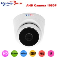 Wholesale wide angle lens cctv camera - Heanworld ahd camera 1080P cctv camera hd surveillance indoor home security 2.8mm lens wide angle dome cam full hd