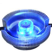 775 fan al por mayor-Computadora de escritorio CPU Radiador Ventilador incandescente Silencio Intel 775/1150/1155 AMD Ventilador de regulación de temperatura inteligente multifunción