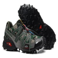 Wholesale cross sizes - Salomon Speed cross 3 CS III Camo Green Black Men Outdoor Crosspeed 3 Running shoes sneakers size 40-46