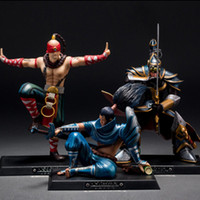 pvc spielzeugauto großhandel-LOL Neue PVC Actionfiguren Lee Sin Der blinde Mönch Yasuo Meister Yi Figuren League of Legends Rund um das Modell Spielzeugauto Dekoration