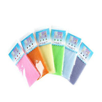 toalla de baño japonesa de nylon salux al por mayor-Alta calidad de la novedad de múltiples colores Salux Nylon exfoliante de belleza japonés baño de la ducha de lavado de tela de tela toalla Scrubbers espalda