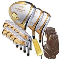 juegos completos de golf al por mayor-Nuevos palos de golf para hombre HONMA s-06 juego de 4 estrellas de golf conjunto de palos driver + fairway wood + putter + Bolsa funda de golf de grafito funda del casco Envío gratuito