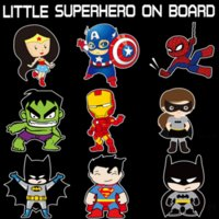 Wholesale vinyl stickers ford - Aliauto Little Superheroes Baby On Board Car-Styling Reflective Car Stickers Decals for ford focus vw golf 6 7 hyundai honda kia